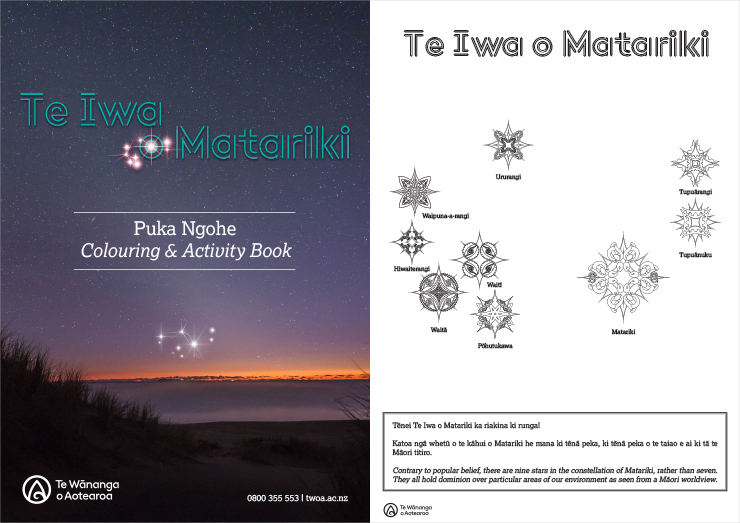Matariki Colouring & Activity Book